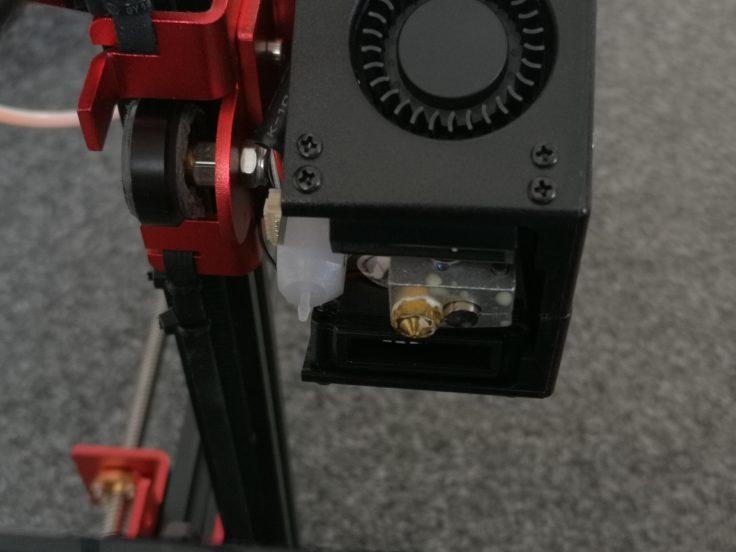 Tevo Flash 3D-Drucker: Nozzle und BlTouch-Sensor
