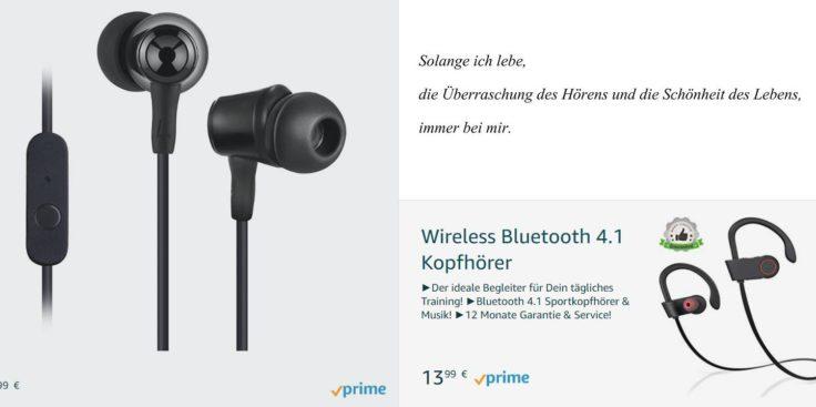Toplus Amazon Kopfhörer