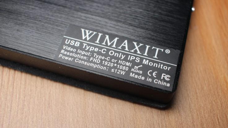 WIMAXIT 15,6 Zoll USB-C Monitor CE Kennzeichnung