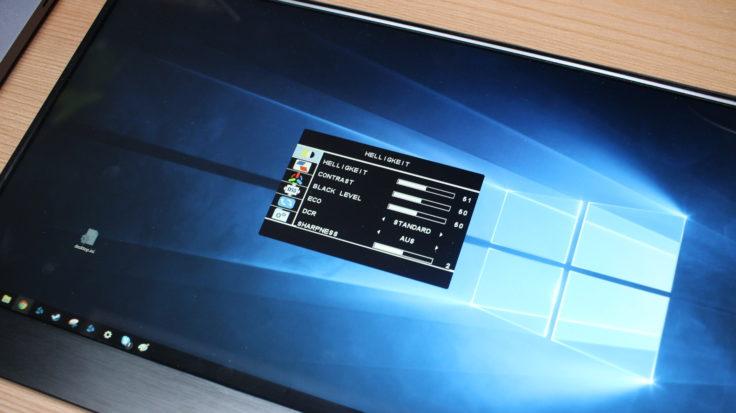 WIMAXIT 15,6 Zoll USB-C Monitor Einstellungen
