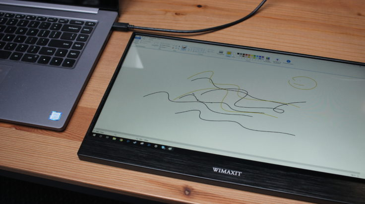 WIMAXIT 15,6 Zoll USB-C Monitor am Laptop