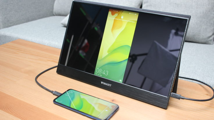 WIMAXIT 15,6 Zoll USB-C Monitor mit Smartphone (1)