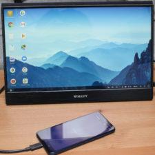 WIMAXIT 15,6 Zoll USB-C Monitor mit Smartphone (2)