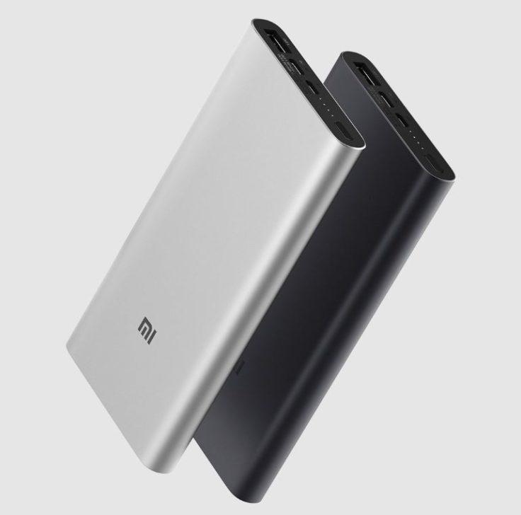 Xiaomi Powerbank 3 Slim schwarz und silber