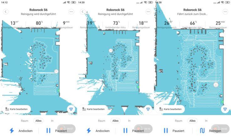 Xiaomi Roborock S6 Saugroboter Mapping Kartenspeicherung