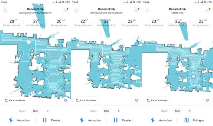 Xiaomi RoboRock S6 Saugroboter Mi Home App Mapping
