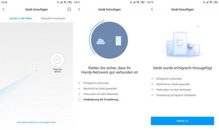 Xiaomi RoboRock S6 Saugroboter Mi Home App Verbindung