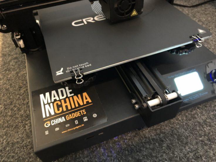 Creality CR-20 3D-Drucker: Levelraeder