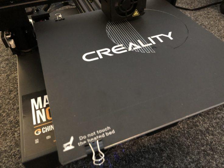 Creality CR-20 3D-Drucker: das Druckbett
