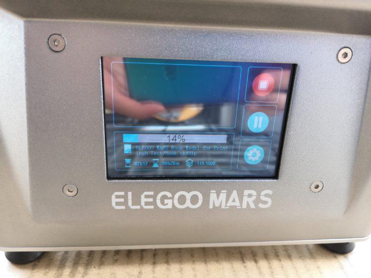Elegoo Mars 3D-Drucker: Druckdauer