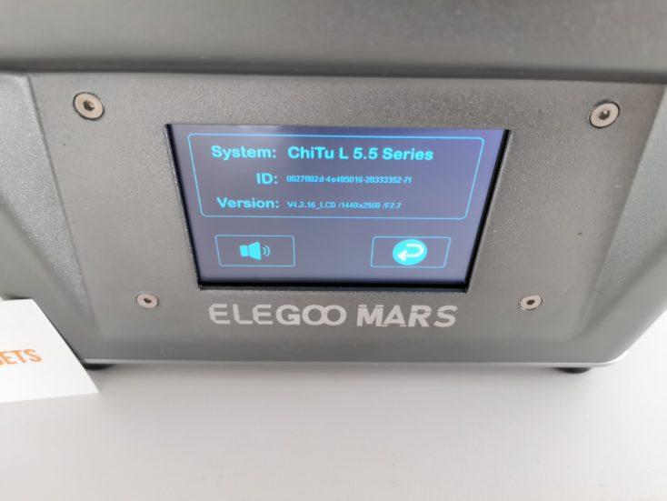 Elegoo Mars 3D-Drucker: Systeminformationen