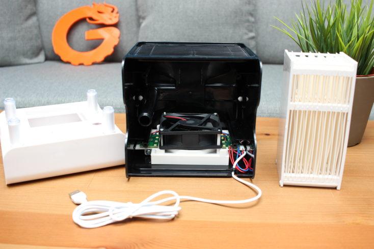 Homegeek Tisch Klimaanlage: Einzelteile