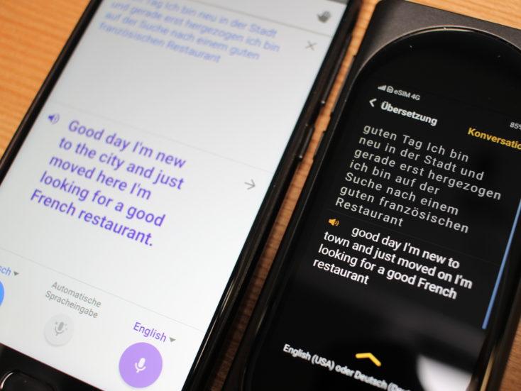 Langogo Genesis AI Übersetzer Vergleich mit Google Translate (2)