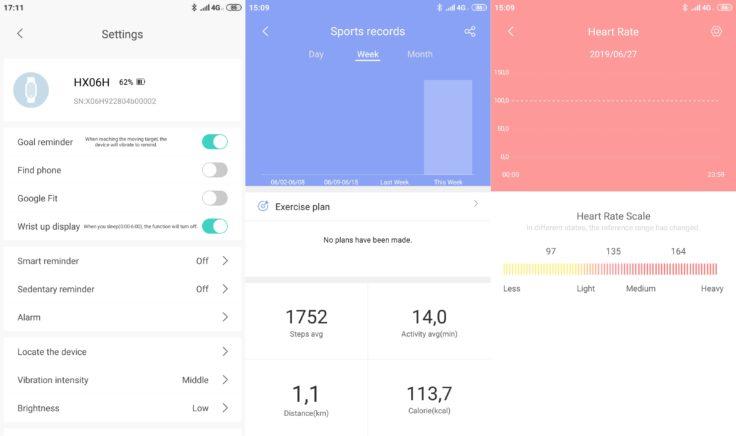 Lenovo HX06H Fitnesstracker Lenovo Life App Einstellungen