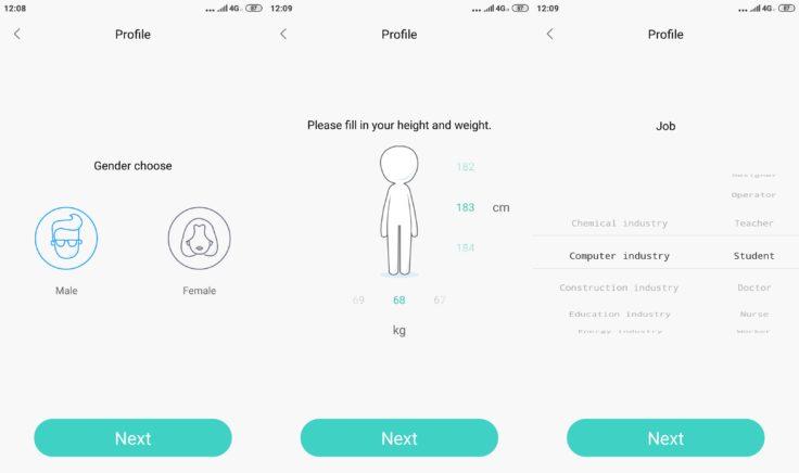 Lenovo HX06H Fitnesstracker Lenovo Life App persönliche Einstellungen