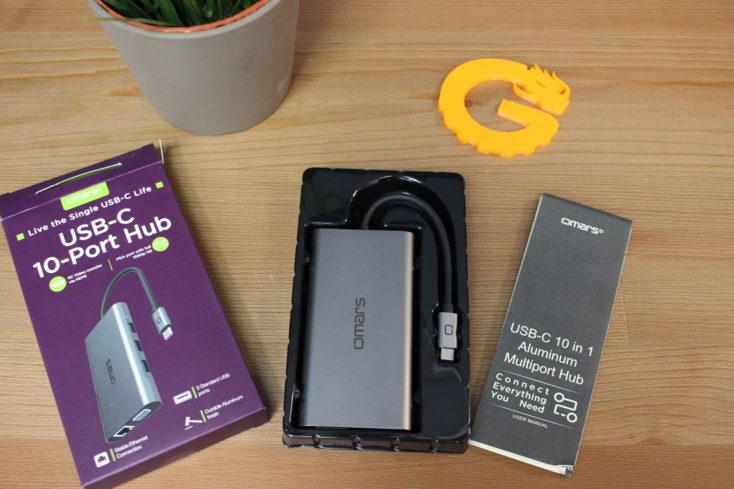 Omars USB C 1in1 Multiport Hub Lieferumfang