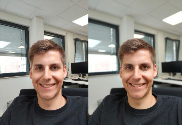 Oppo Reno 10X Zoom Frontkamera Testfoto Portrait Vergleich