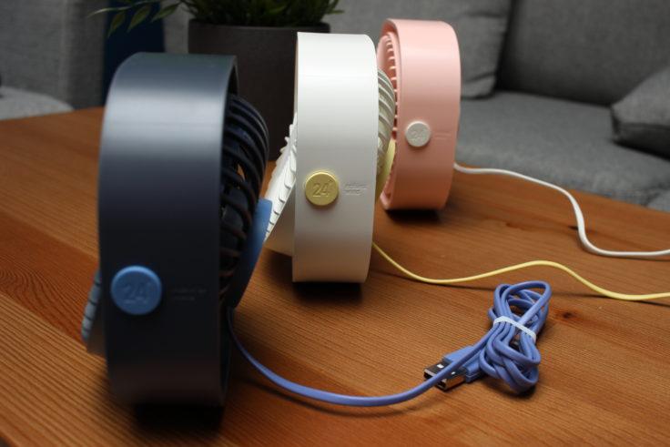 SMARTDEVIL USB-Ventilator drei Ventilatoren mit Kabel in verschiedenen Farben