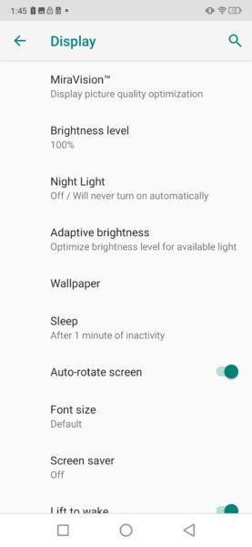 UMIDIGI S3 Pro Displayeinstellungen