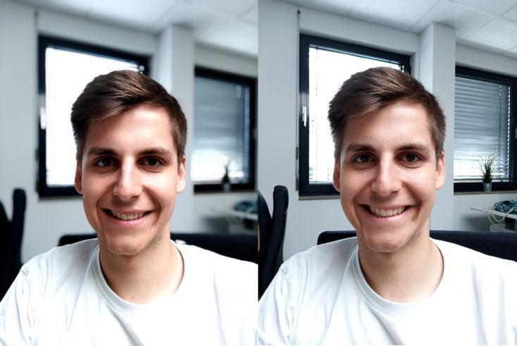 UMIDIGI S3 Pro Frontkamera Testfoto Portrait Vergleich