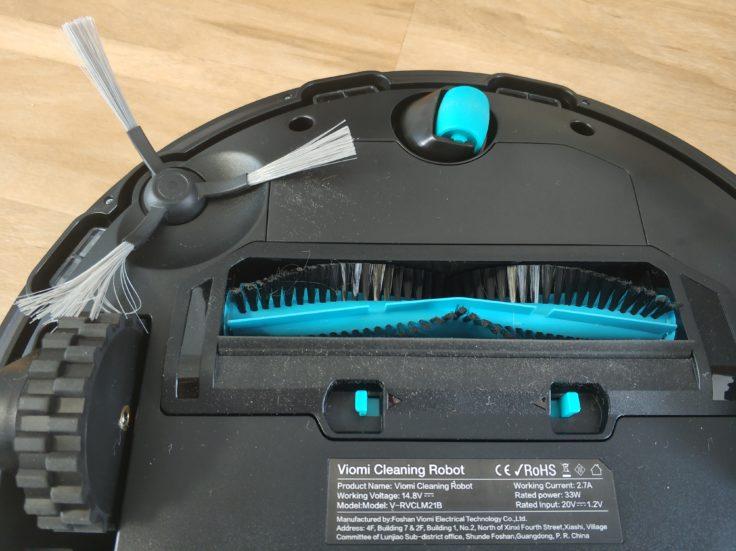 Viomi V2 Saugroboter Unterseite Bürsten
