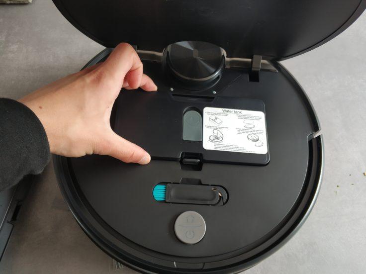 Viomi V2 Saugroboter Wischfunktion Wassertank einsetzen