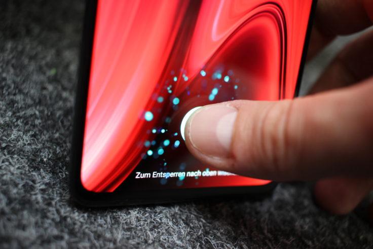 Xiaomi Mi 9T Fingerabdrucksensor