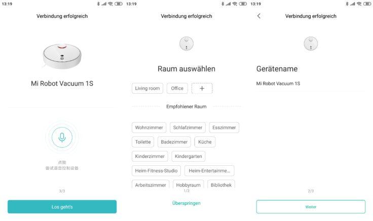 Xiaomi Mi Robot 1S Saugroboter Mi Home App Einbindung