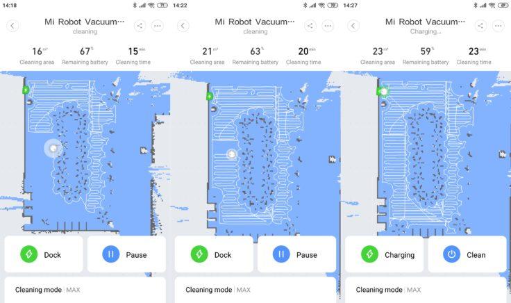 Xiaomi Mi Robot 1S Saugroboter Mi Home App Mapping