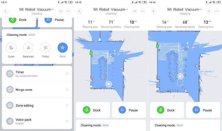 Xiaomi Mi Robot 1S Saugroboter Mi Home App Mapping Einstellungen