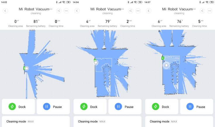 Xiaomi Mi Robot 1S Saugroboter Mi Home App Mapping Navigation