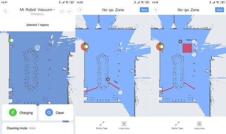 Xiaomi Mi Robot 1S Saugroboter Mi Home App No-Go-Zonen virtuelle Wände