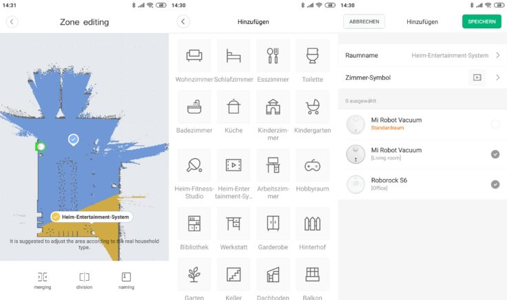 Xiaomi Mi Robot 1S Saugroboter Mi Home App Wischfunktion Mapping