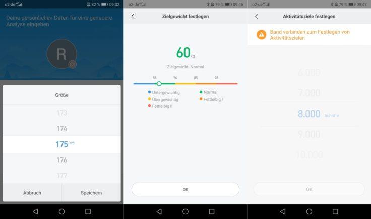 Xiaomi Mi Scale Personenwaage MiFit App Angaben