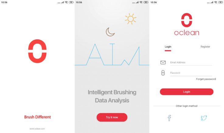 Xiaomi Oclean X Zahnbürste App Registrierung