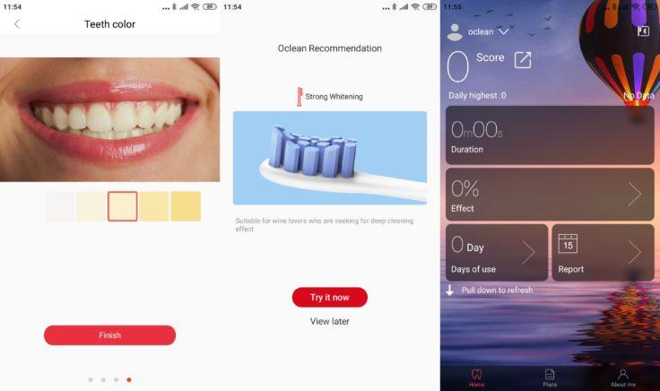 Xiaomi Oclean X Zahnbürste App Zähne