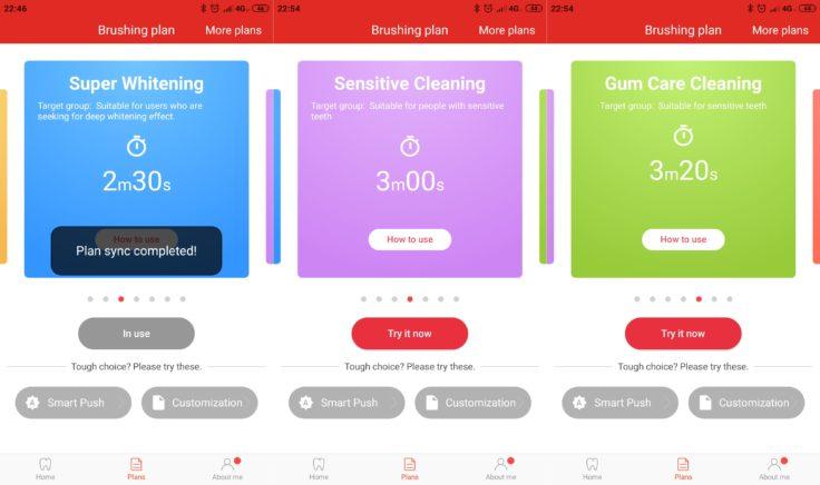 Xiaomi Oclean X elektrische Zahnbürste App Reinigungsmodi