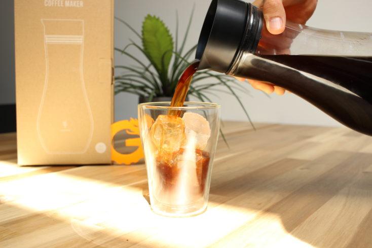 soulhand Cold Brew Kaffeezubereiter Serviervorschlag