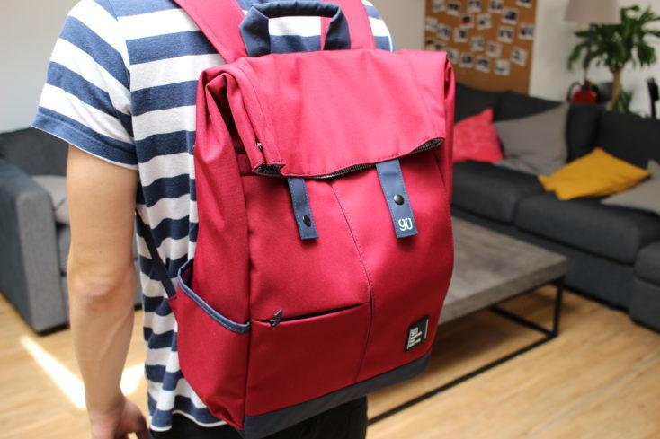 90Fun College-Rucksack Rot hinten