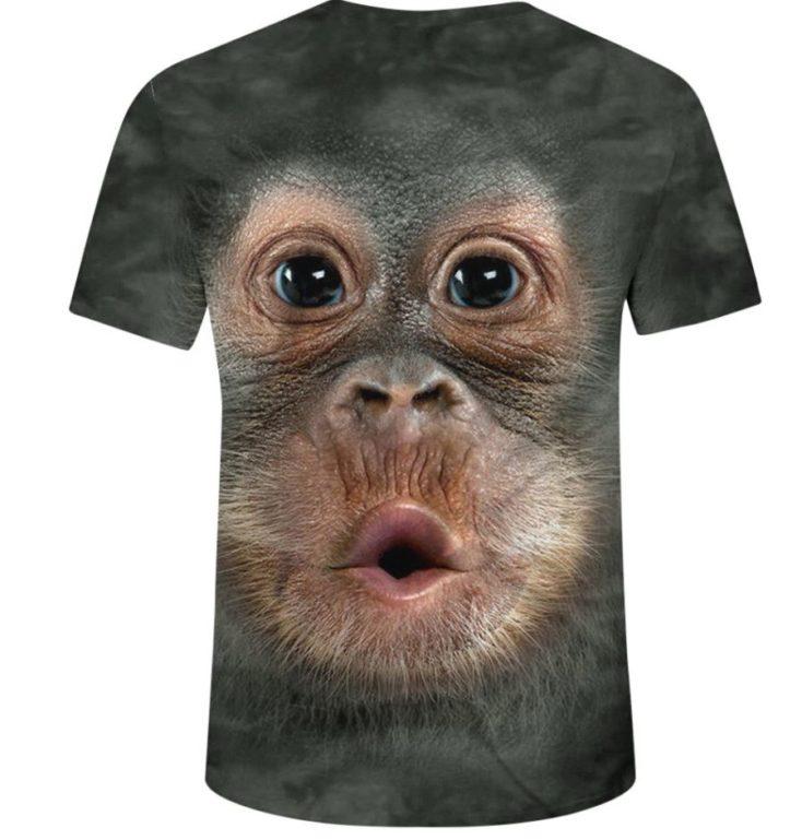 Affiges T-Shirt weißer Hintergrund