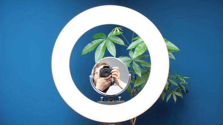 Craphy Ringlicht Taschenspiegel auf Stativ.