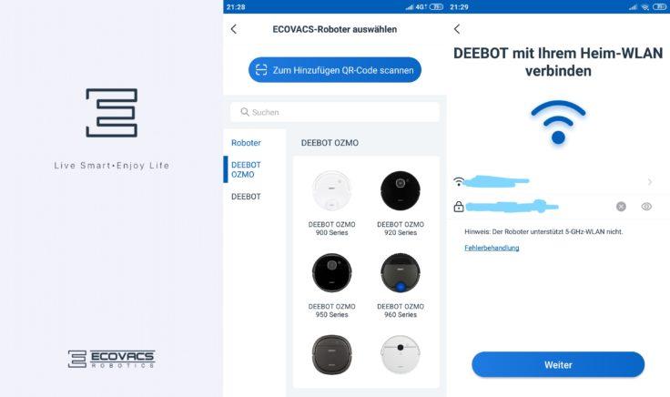 Ecovacs Home App Deebot Ozmo 900 Saugroboter