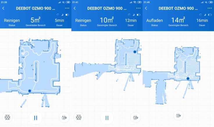 Ecovacs Home App Deebot Ozmo 900 Saugroboter Beginn Mapping