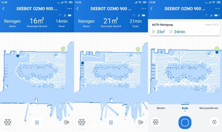 Ecovacs DEEBOT Ozmo 900 Saugroboter App Mapping Home