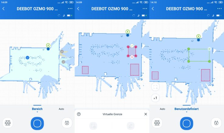 Ecovacs DEEBOT Ozmo 900 Saugroboter App Mapping virtuelle Wände