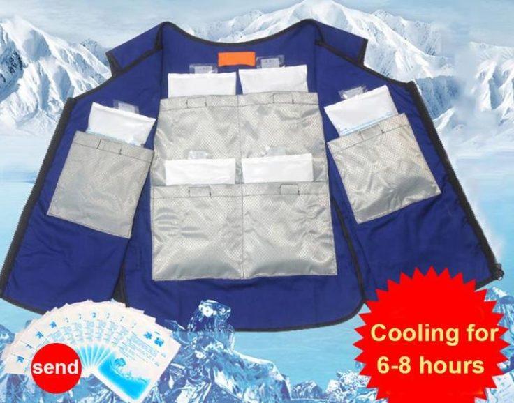 Eiswürfel kühlende Weste Dauer
