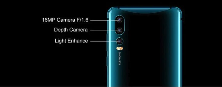 Elephone U2 Smartphone Triple-Kamera