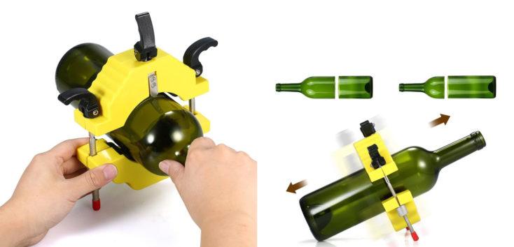Glasflaschen-Schneider Vorgang