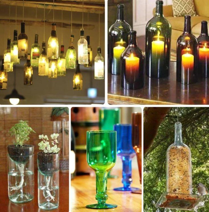 Glasflaschen-Schneider fertige Deko
