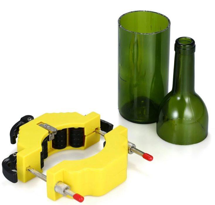 Glasflaschen-Schneider mit Flasche